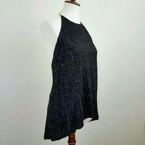 Zara W&B Shimmery Halter Top